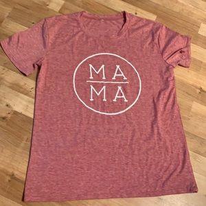 Mama t shirt sz XL pink white